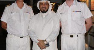 الدكتور الشريف محمد الراجحي يشارك في حفل إستقبال السفينة العسكرية الملكية البريطانية HMS ARGYLL.