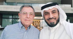 رئيس الوزراء اللبناني الأسبق فؤاد السنيورة يحتفي بالدكتور الشريف محمد الراجحي بمنحه شهادة تقدير