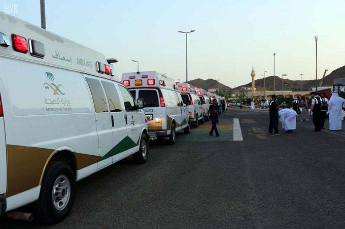 """Photo of """"الصحة"""" تجهز أسطولاً طبياً ميدانياً يضم 180 سيارة إسعاف للعمل خلال الحج"""