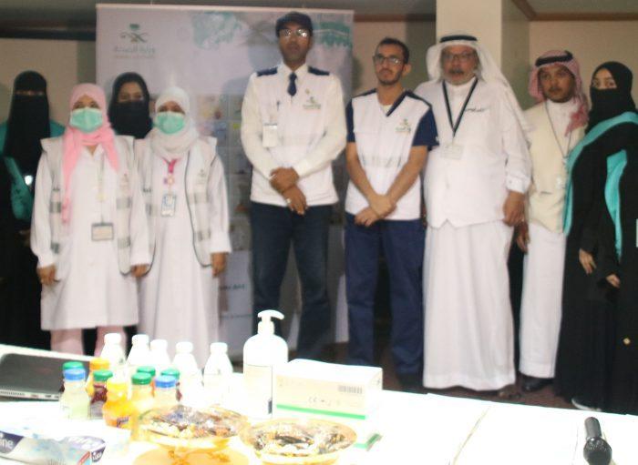 Photo of برنامج التوعية الصحية في الحج للحجاج بعثة الهند لمكتب 49