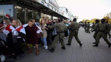 Photo of إعتقال الشرطة البيلاروسية المئات من النساء.