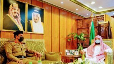 Photo of معالي الشيخ الدكتور السديس يلتقي مع قائد قوة أمن المسجد الحرام العقيد البقمي